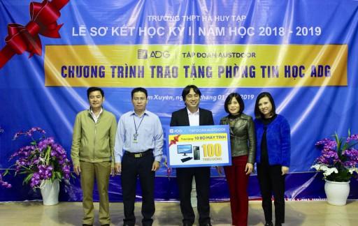 """Austdoor trao tặng """"Phòng học máy tính ADG"""" cho trường THPT Hà Huy Tập, Hà Tĩnh"""