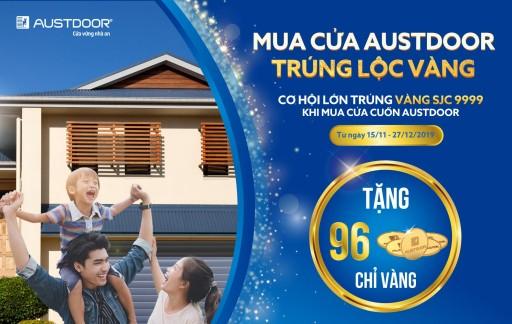 Danh sách khách hàng trúng thưởng Lộc vàng tuần 1 CTKM Mua cửa Austdoor Trúng lộc vàng 2019