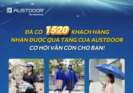 Đã có 1520 khách hàng nhận được quà tặng Austdoor