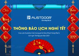 Lịch nghỉ Tết Nguyên đán 2021 Cửa cuốn Austdoor